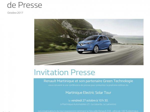 Dossier de presse Green Technologies